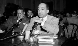Langston Hughes speaks before the House Un-American Activities Committee in 1953.