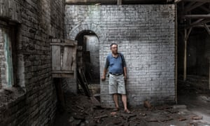 Liu Linsheng, whose father escaped the Taiyuan concentration camp, visits its two remaining cellblocks. He has written a book about the camp and has campaigned for the government to preserve what remains of this site.