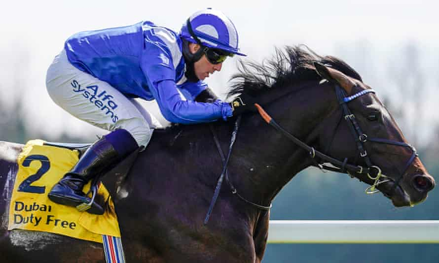 Al Aasy pictured winning the Dubai Duty Free Stakes.