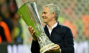 Jose Mourinho with the Europa League trophy after Manchester United beat Ajax in the final in May 2017. He was sacked on Tuesday.