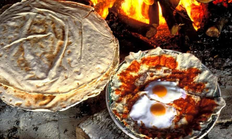 Homemade bread at Su Gologone