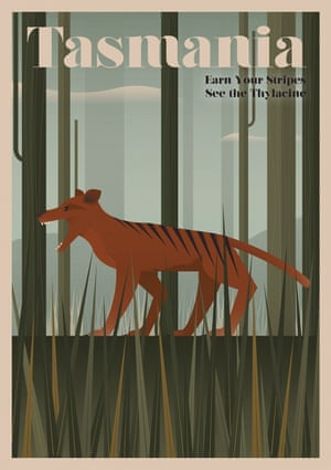 The thylacine, Tasmania , from a series of posters entitled Unknown Tourism by Expedia