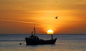 A UK fishing boat