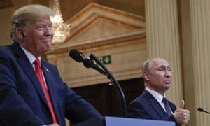 Trump and Putin meet in Helsinki in 2018.