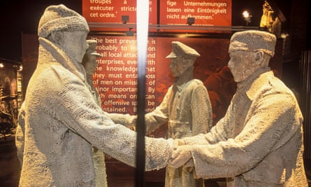 Sculputures at the In Flanders Fields Museum Ypres, Belgium.