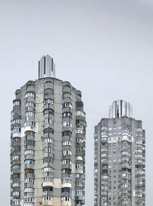 Early 1980s residential blocks in Obolonskyi, Kiev