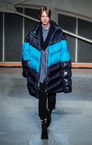 Raf Simons oversized coat.
