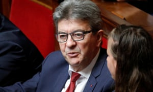 Jean-Luc Mélenchon at the National Assembly in Paris last week.