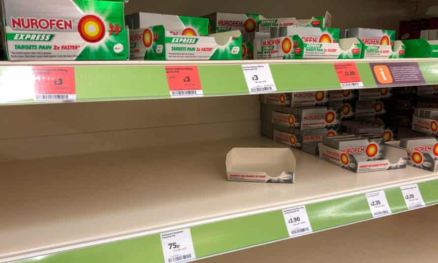 Boxes of ibuprofen in Sainsbury's