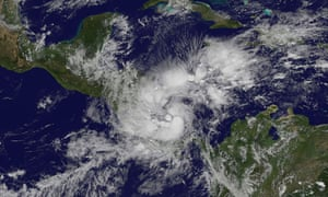 Otto develops from a Caribbean storm to a hurricane as it spins towards the coasts of Costa Rica and Nicaragua on Wednesday.