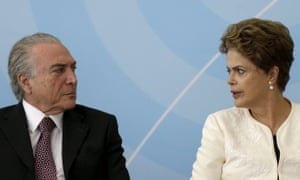 Dilma Rousseff and Vice-president Michel Temer,