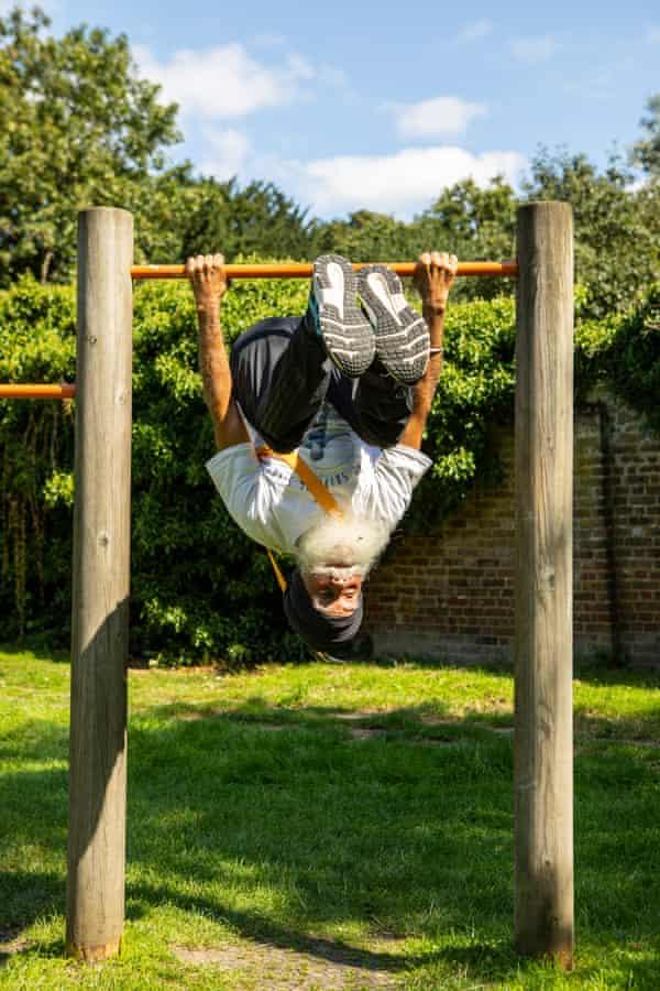Singh exercising in west London.