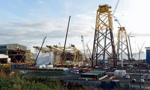 The now mothballed BiFab construction yard in Methil.