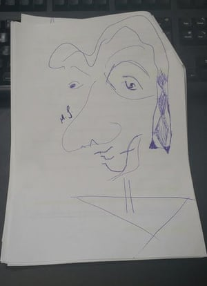 Matt Smith's drawing of a face