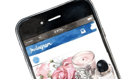Illustration of an Instagram page
