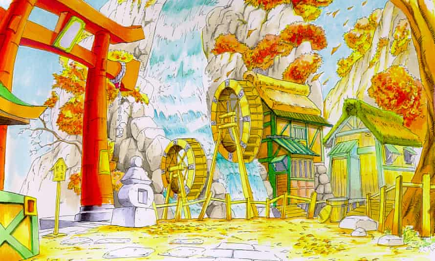 A sketch of the Japan stage