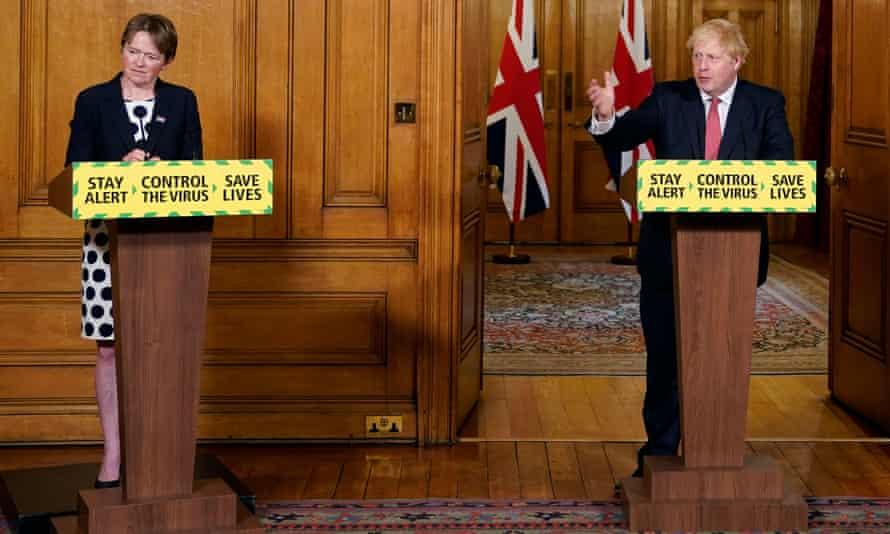 Dido Harding and Boris Johnson
