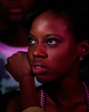 Watching singer-songwriter Asa at the Mamas, the inaugural MTV Africa music awards in Abuja, Nigeria, in 2009.