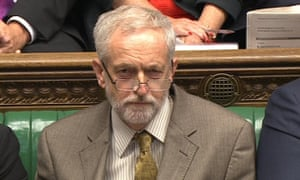 Jeremy Corbyn, the new leader of Britain's opposition Labour Party takes part in his first Prime Minister's Questions in the House of Commons