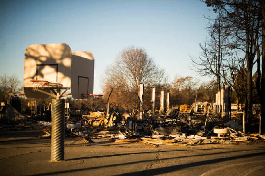 Paradise elementary school after it was destroyed by the fire.
