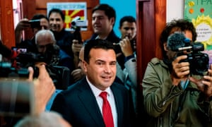 Macedonia's prime minister, Zoran Zaev.