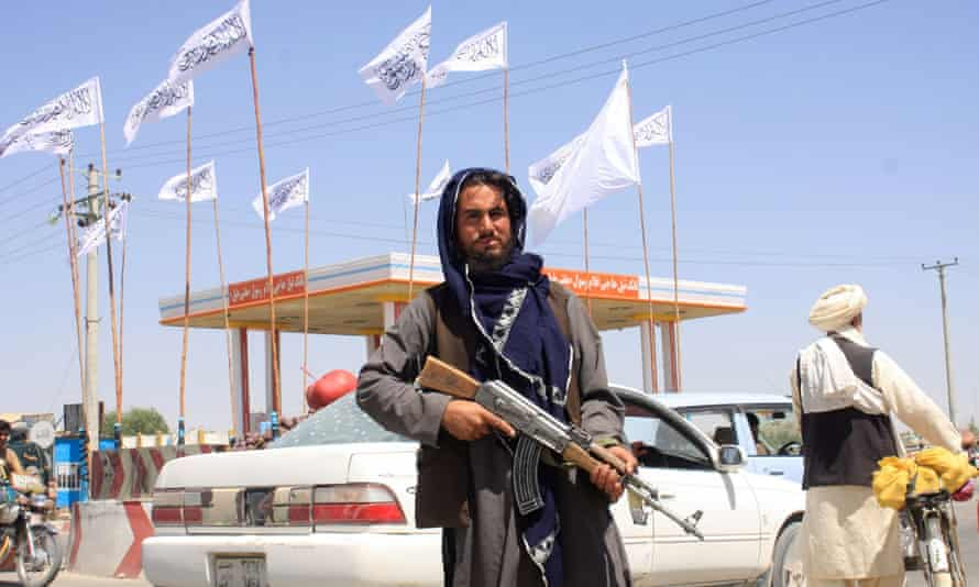 A Taliban fighter in Ghazni, Afghanistan, on Saturday.