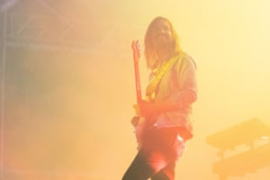 Kevin Parker of Tame Impala performs on Friday.