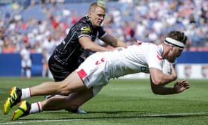 Elliott Whitehead scored for England as they beat New Zealand in Denver in June.