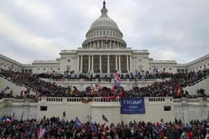 The US Capitol Building is stormed by a pro-Trump mob on January 6.