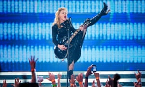 Madonna performing in 2012