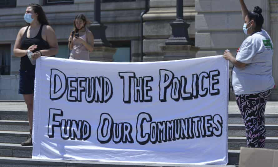 Critics argue police departments are already overfunded – they receive 20% to 45% of discretionary funds in cities across the US.