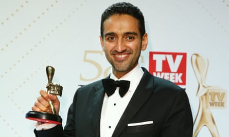Waleed Aly with his Gold Logie