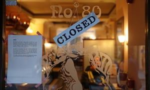 A sign on the door of a closed branch of Patisserie Valerie in London announces KPMG has been appointed as administrator