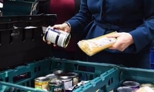 Goods at a food bank