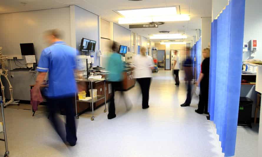 Staff in a hospital ward.