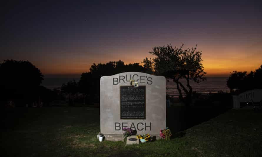 Bruce's Beach on Thursday evening.