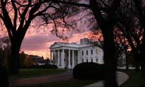 The White House at sunrise.
