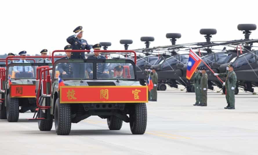 General Wang Shin-lung, commander of the Taiwan army, at a military ceremony.