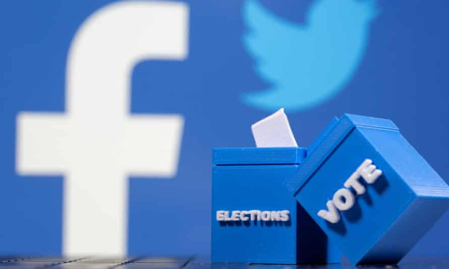 Facebook and Twitter have ramped up efforts to counter Donald Trump's false claims of victory.