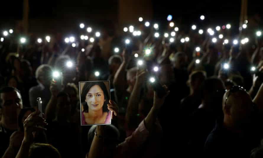 A vigil for Daphne Caruana Galizia in September 2018