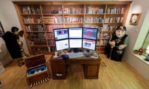 A reconstruction of Terry Pratchett's study in Salisbury Museum.