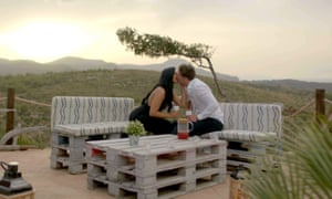 Let there be love … Mallorca steals the scene as Alex and Alexandra get friendly.