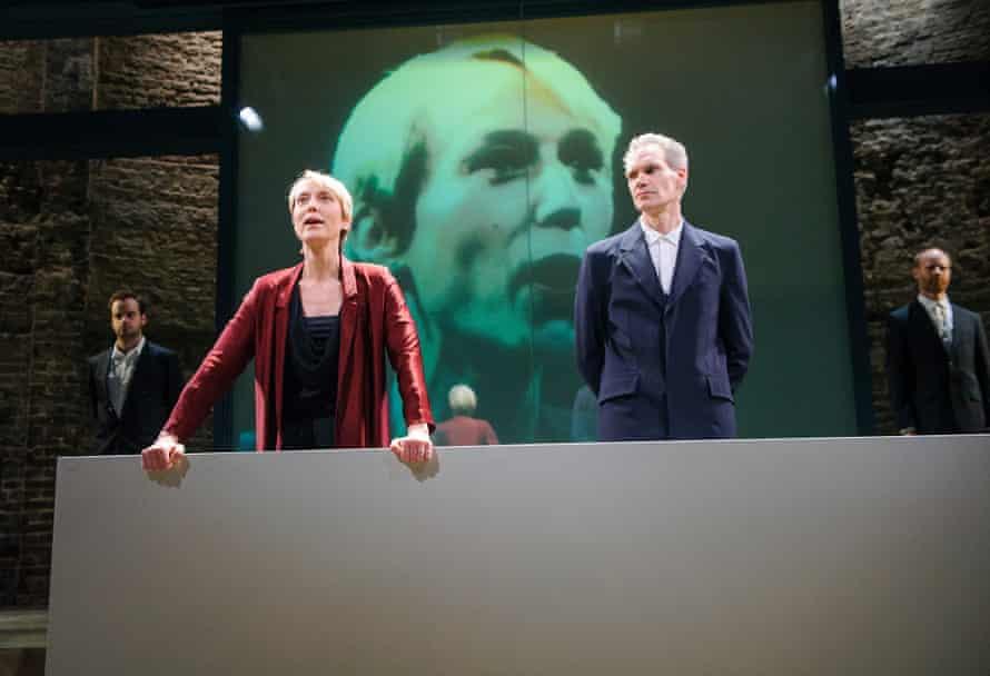 Lia Williams and Angus Wright in Oresteia in Almeida.