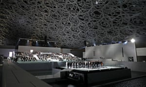 The interior the Louvre Abu Dhabi during its inauguration.