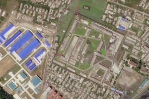 Satellite image of a North Korean missile production facility in the city of Hamhung.