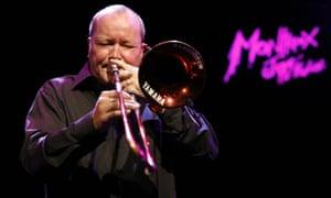 Nils Landgren plays trombone