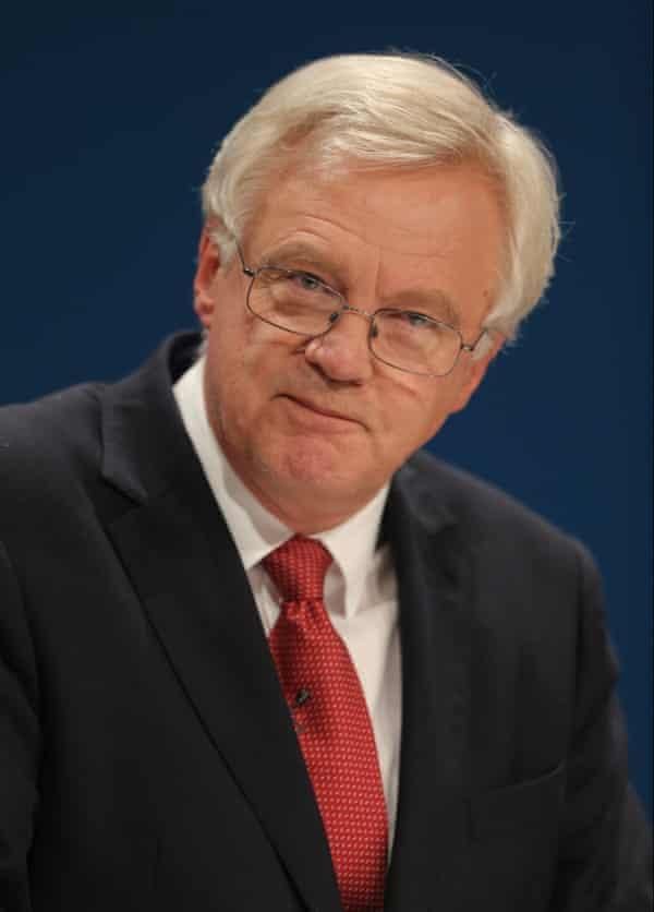 David Davis, the secretary of state for Brexit.