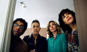 'Glowingly dysfunctional': (l-r) Adeel Akhtar, Nicola Walker, Eva Birthistle and Desiree Akhavan in The Circuit.