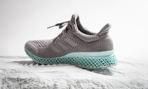 Adidas and Parley for the Oceans recycled trainer.