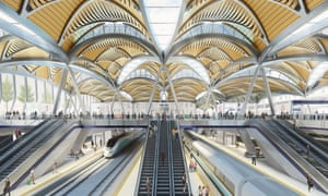 Artist's impression of HS2 terminal at Euston in London